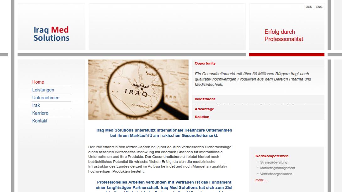 Screenshot - iraqmedsolutions.com