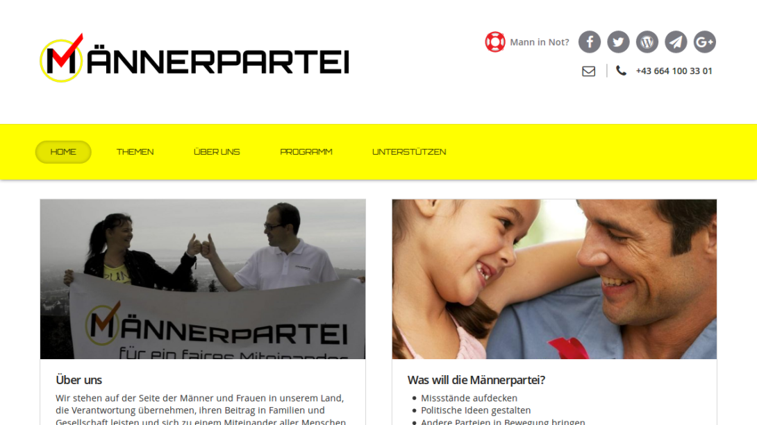 Screenshot - Männerpartei.at
