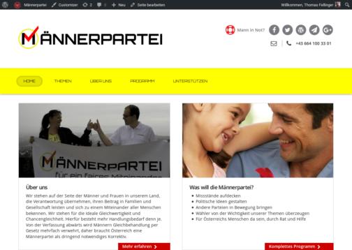 Screenshot - Männerpartei.at