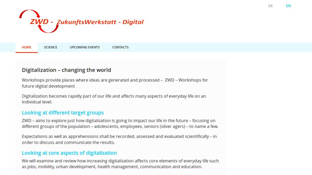 Sreenshot - ZWD - ZukunftsWerkstatt - Digital