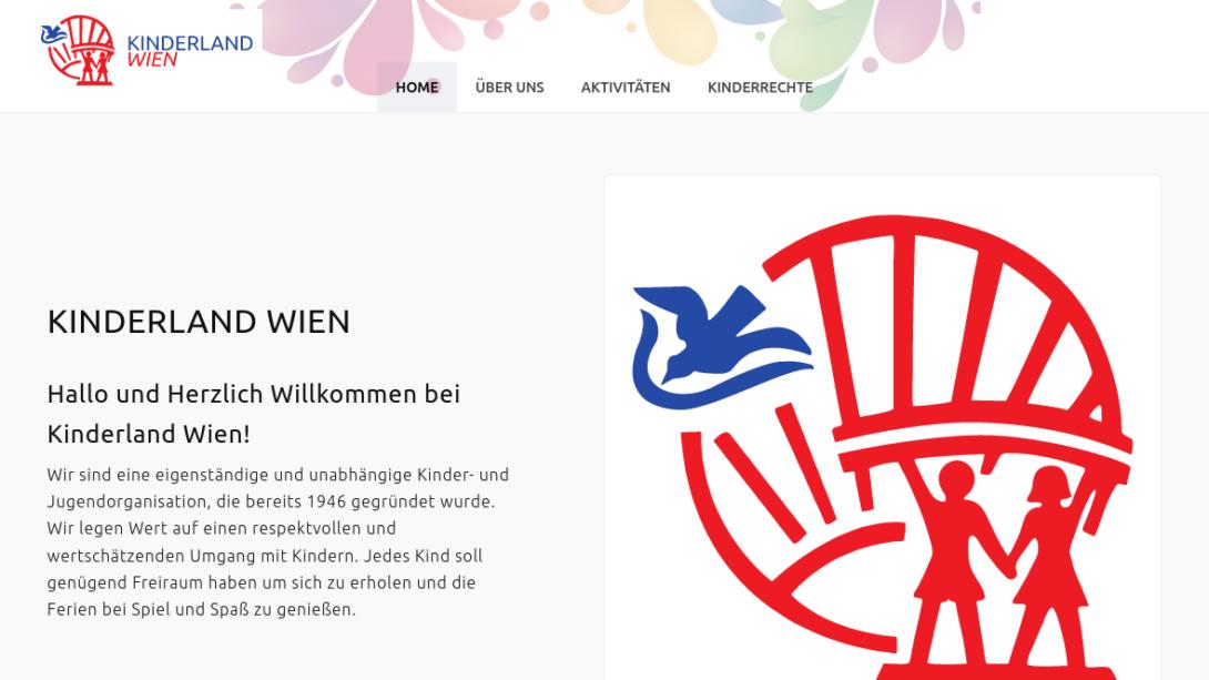 Screenshot von kinderlandwien.at